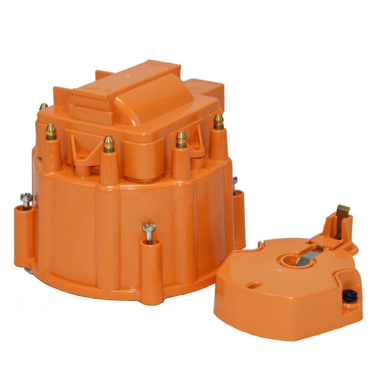 A-Team Performance HEI OEM Distributor Cap, Rotor and Coil Cover Kit 8-cylinder Compatible with Small Block SBC Big Block BBC Chevy Chevrolet Orange
