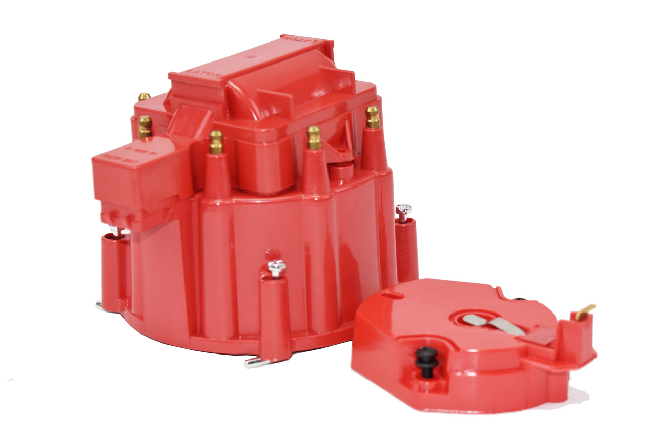 A-Team Performance HEI OEM Distributor Cap, Rotor &, Coil Cover Kit 8-cylinder CHEVY GM FORD DODGE RED