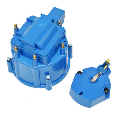 A-Team Performance CR6BL HEI OEM Distributor Cap, Rotor and, Coil Cover Kit Blue 6 Cylinder