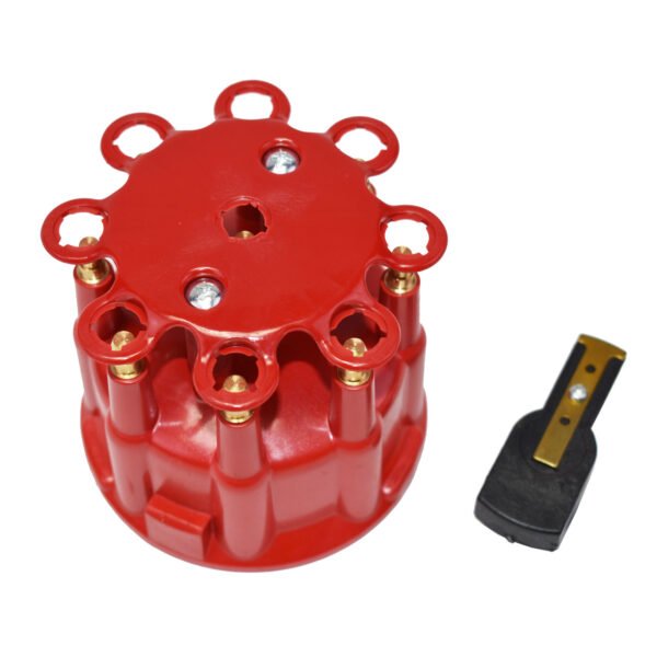A-Team Performance Pro Billet & Ready to Run Cap & Rotor Kit 8-Cylinder Male Red