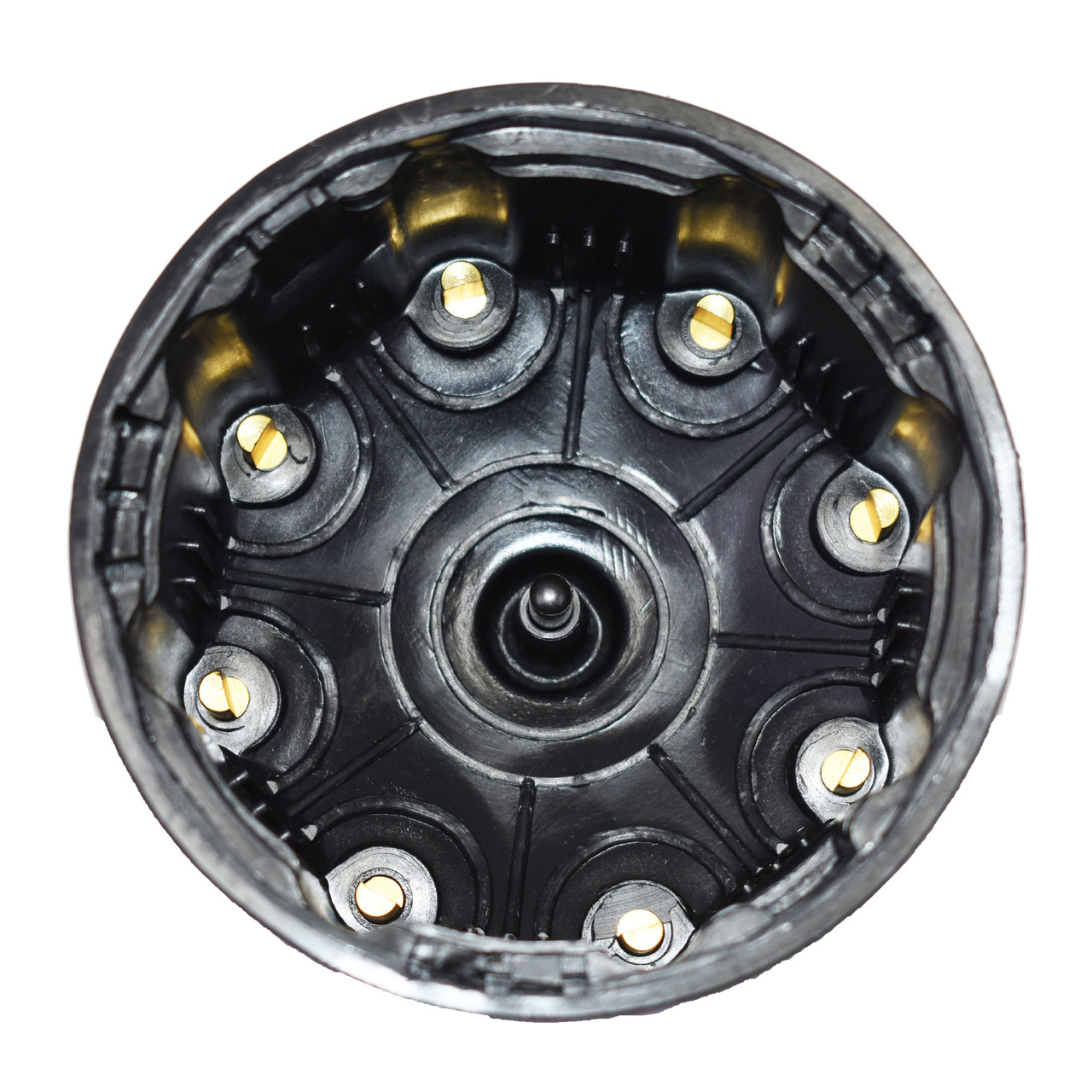A-Team Performance 8-Cylinder Pro Billet & Ready to Run Cap & Rotor Kit Female Cap Fits A-Team Ready to Run Distributors (BLACK)