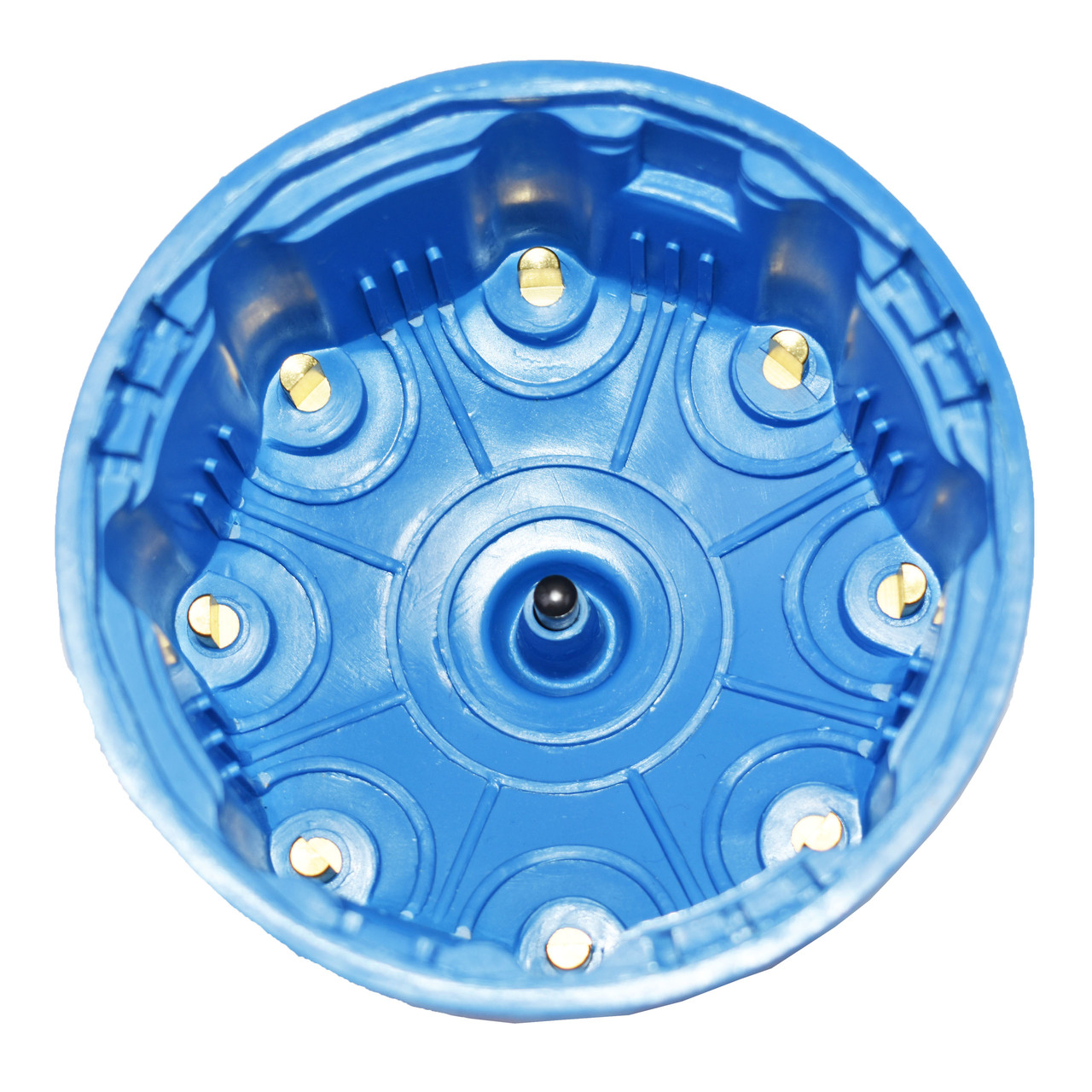 A-Team Performance 8-Cylinder Pro Billet & Ready to Run Cap & Rotor Kit Female Cap Fits A-Team Ready to Run Distributors (BLUE)
