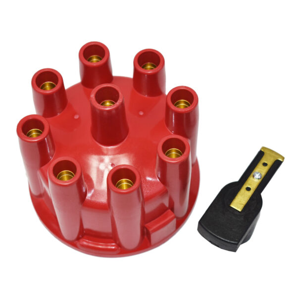 A-Team Performance 8-Cylinder Pro Billet & Ready to Run Cap & Rotor Kit Female Cap Fits A-Team Ready to Run Distributors (RED)