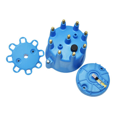 A-Team Performance 8-Cylinder Male Pro Series Distributor Cap & Rotor Kit (Blue)