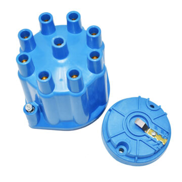 A-Team Performance 8-Cylinder Female Pro Series Distributor Cap & Rotor Kit (Blue)