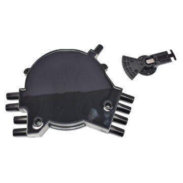 A-Team Performance Black Optispark Cap and Rotor Kit Compatible with 1992-1994 GM LT1 SB Small Block Chevrolet 265 350
