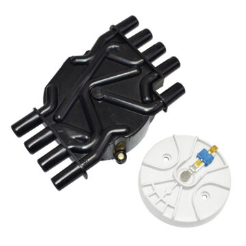 A-Team Performance Distributor Cap and Rotor for GM Chevrolet Vortec 305 350 454 Black
