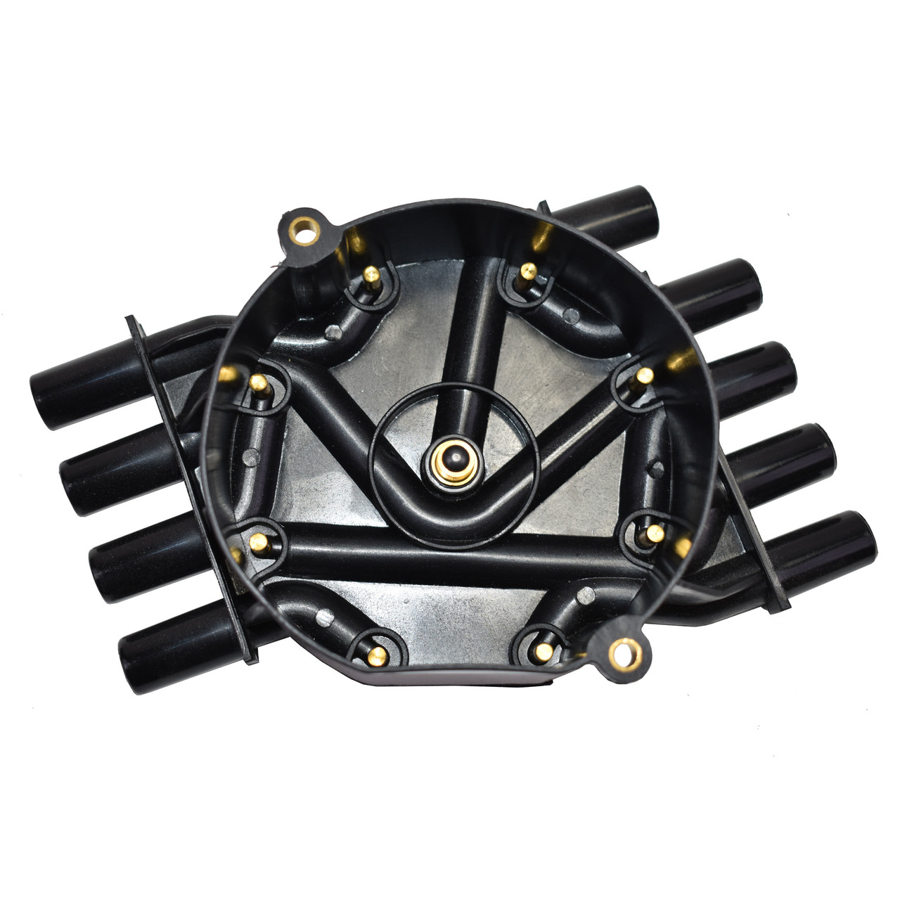 A-Team Performance 8-Cylinder EFI Distributor Cap and Rotor Kit Compatible with GM 454 305 350 Black Cap