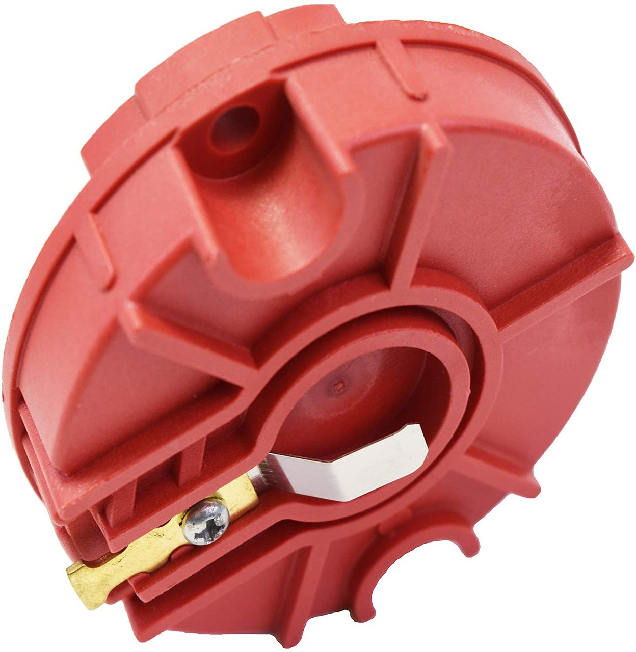 A-Team Performance LOW PROFILE CRAB STYLE REPLACEMENT DISTRIBUTOR & ROTOR CAP MALE RED MSD TYPE 85413