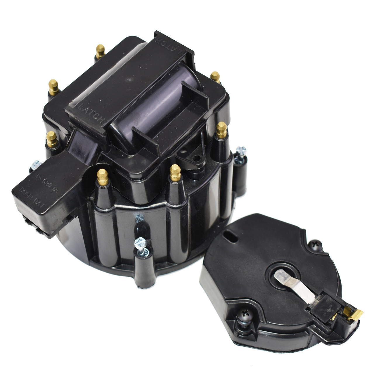 A-Team Performance HEI Distributor Tune-Up Kit 8-Cylinder 65K Ignition Coil Male Cap (Black)