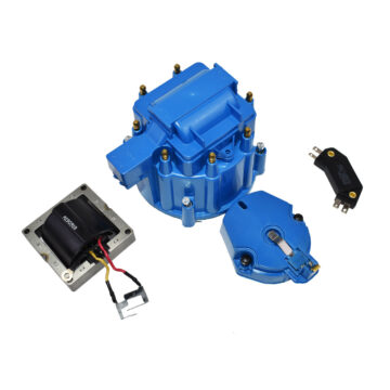 A-Team Performance HEI Distributor Tune-Up Kit 8-Cylinder 65K Ignition Coil Male Cap (Blue)