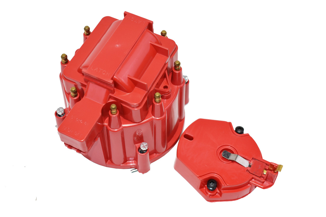 A-Team Performance HEI Distributor Tune-Up Kit 8-Cylinder 65K Ignition Coil Male Cap (Red)