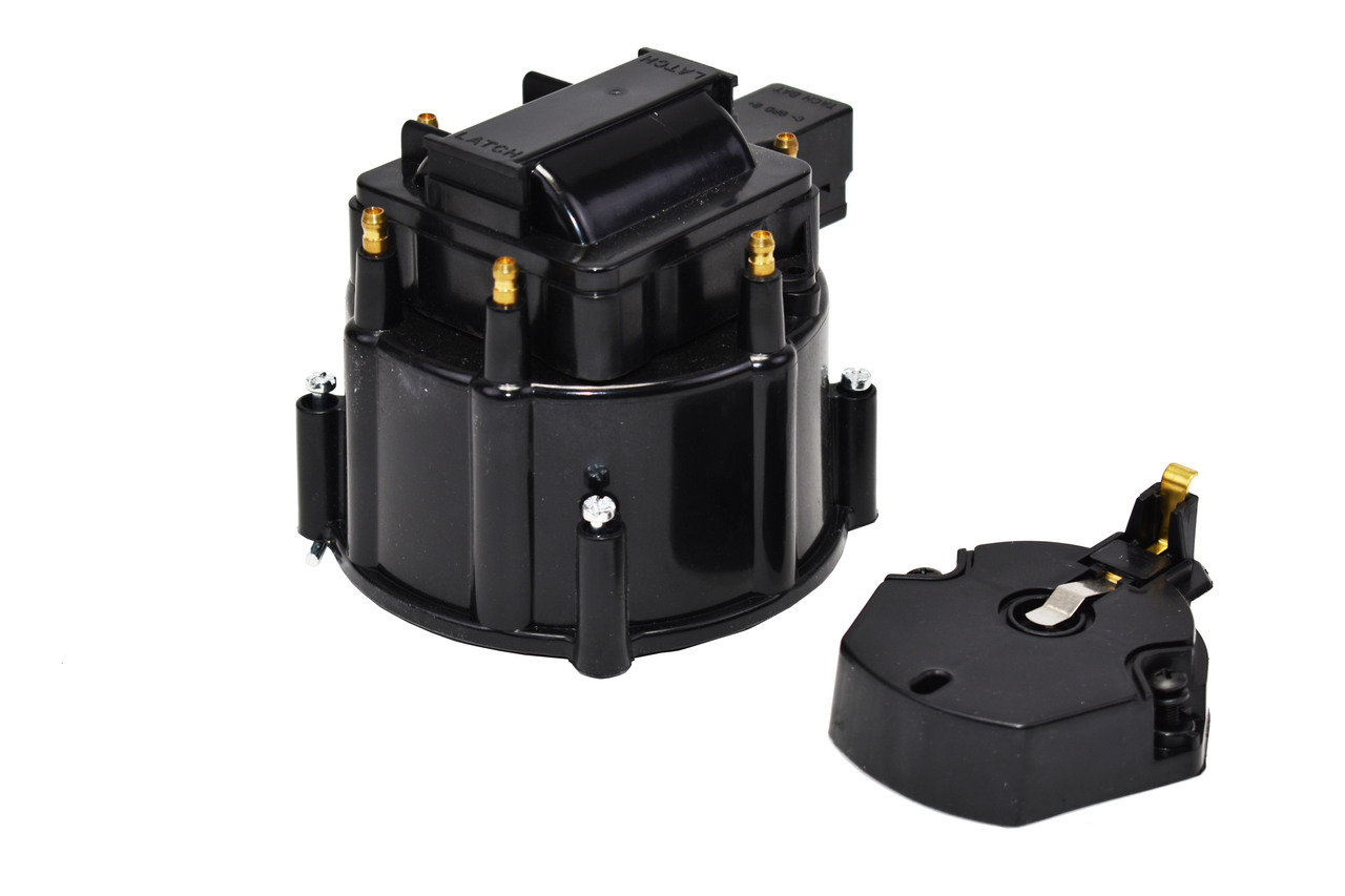 A-Team Performance HEI Distributor 6-Cylinder Tune-Up Kit Male Cap 65k Volt Ignition Coil (Black)