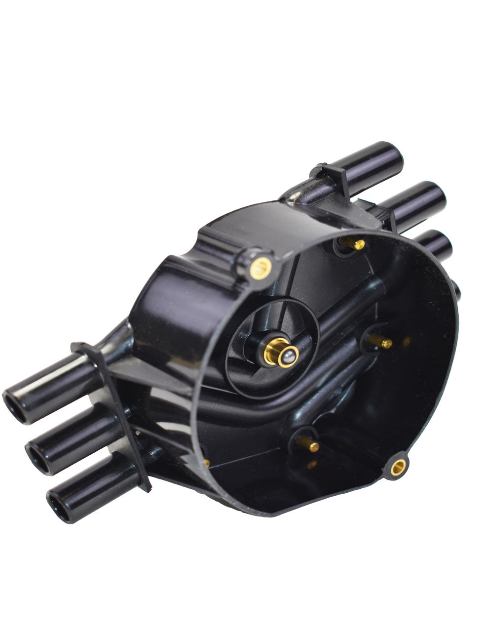 A-Team Performance D328A Distributor Cap Crab Style Compatible with Chevy Chevrolet GM Vortec V-6 Black