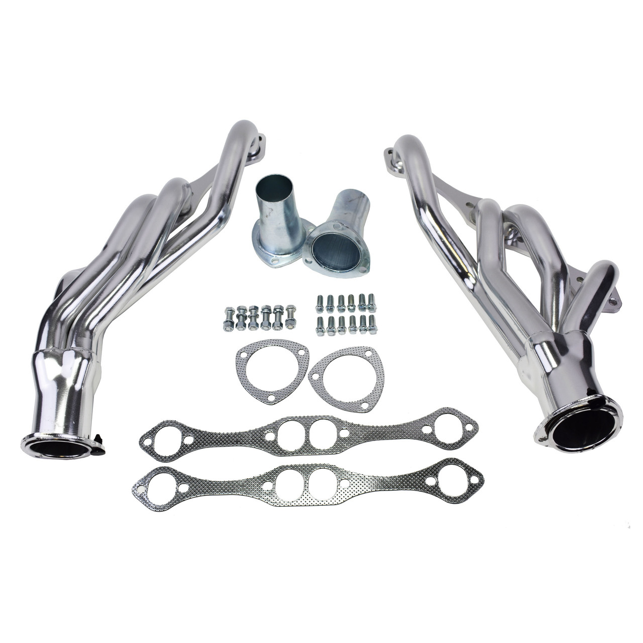 A-Team Performance SBC 283 327 350 383 400 MID LENGTH CAMARO 67-81, CHEVELLE  NOVA 68-79 CERAMIC COATED HEADERS