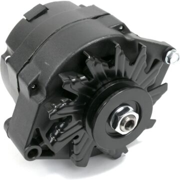 A-Team Performance GM 10SI Style 110 Amp Alternator for Buick, Cadillac, Chevrolet, Oldsmobile, Pontiac V8, Black