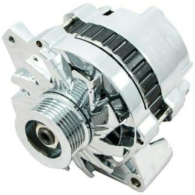 A-Team Performance GM CS130 Style 110 Amp Alternator with Serpentine Pulley, Chrome