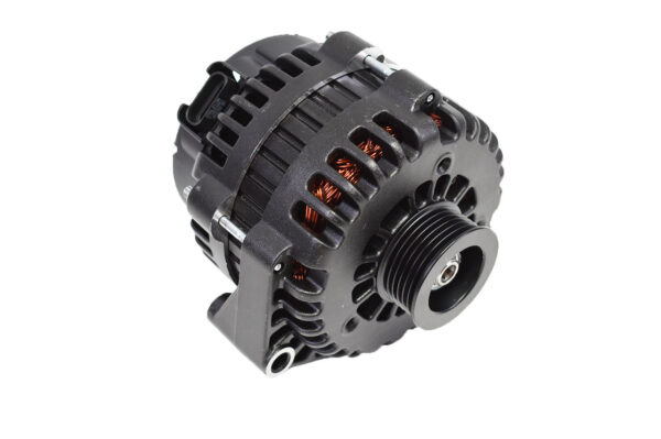 A-Team Performance GM AD244 Style High Output 220 Amp Alternator Black