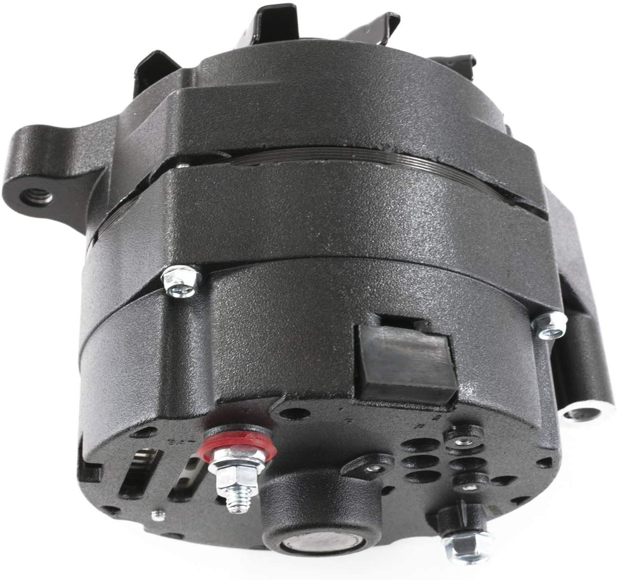 A-Team Performance All Black Alternator Compatible with Ford 1G Style 110 Amp