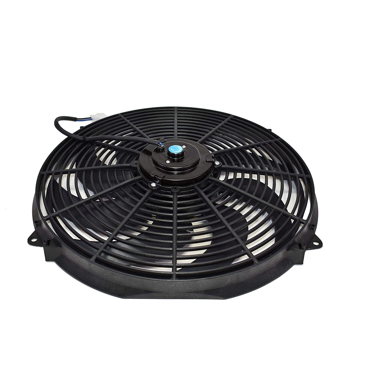 """A-Team Performance 16"""" Electric Curved 8 Blade Reversible Cooling Fan 3000CFM Thermostat Kit"""