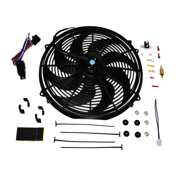 """A-Team Performance 180081 16"""" Heavy Duty 12V Radiator Electric Wide Curved 8-Blade"""