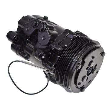 A-Team Performance HC5005C A/C Compressor 6 Groove Sanden SD-7 Type Aluminum Black