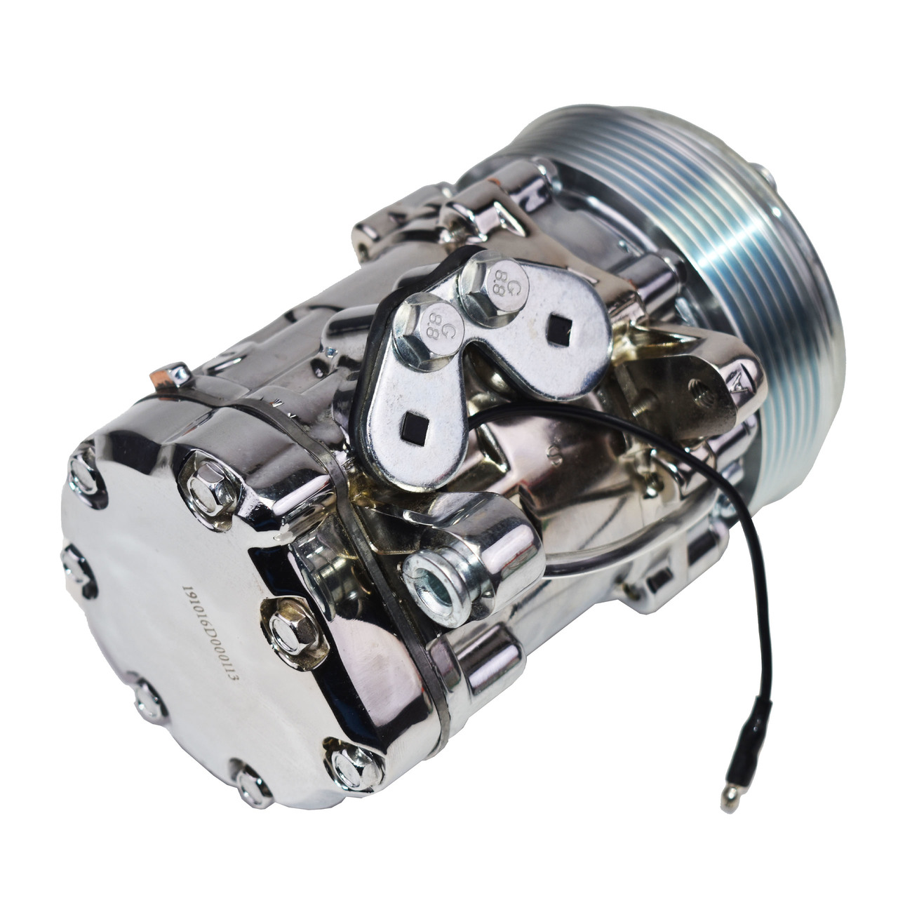 A-Team Performance HC5005C A/C Compressor 6 Groove SD-7 Type Aluminum Chrome
