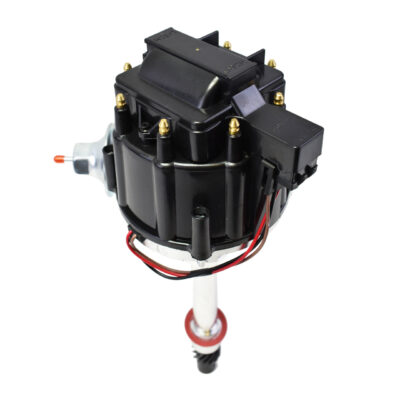 A-Team Performance Chevy HEI Electronic Billet Distributor 65K Coil SBC 327 350 383 BBC 396 454 Black