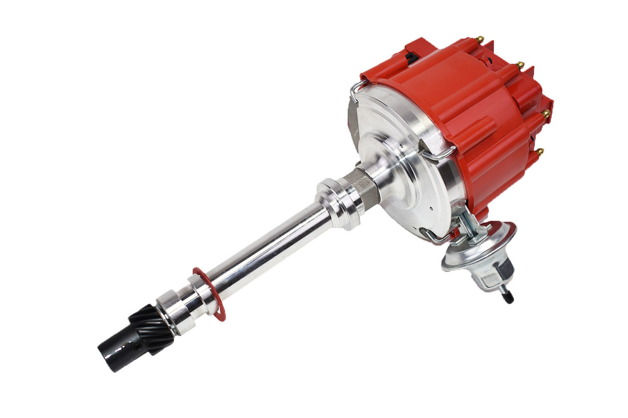 A-Team Performance SBC BBC Small Big Block Chevy Electronic HEI Distributor Red 350/454