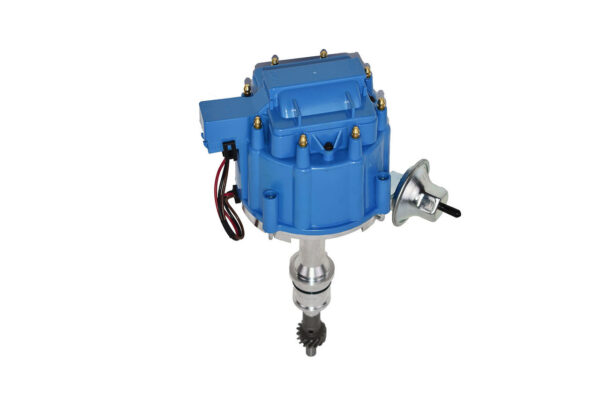 A-Team Performance HEI Complete Distributor 65K Coil Small Block Compatible With Ford 260 289 302 5.0 One-Wire Installation Blue Cap