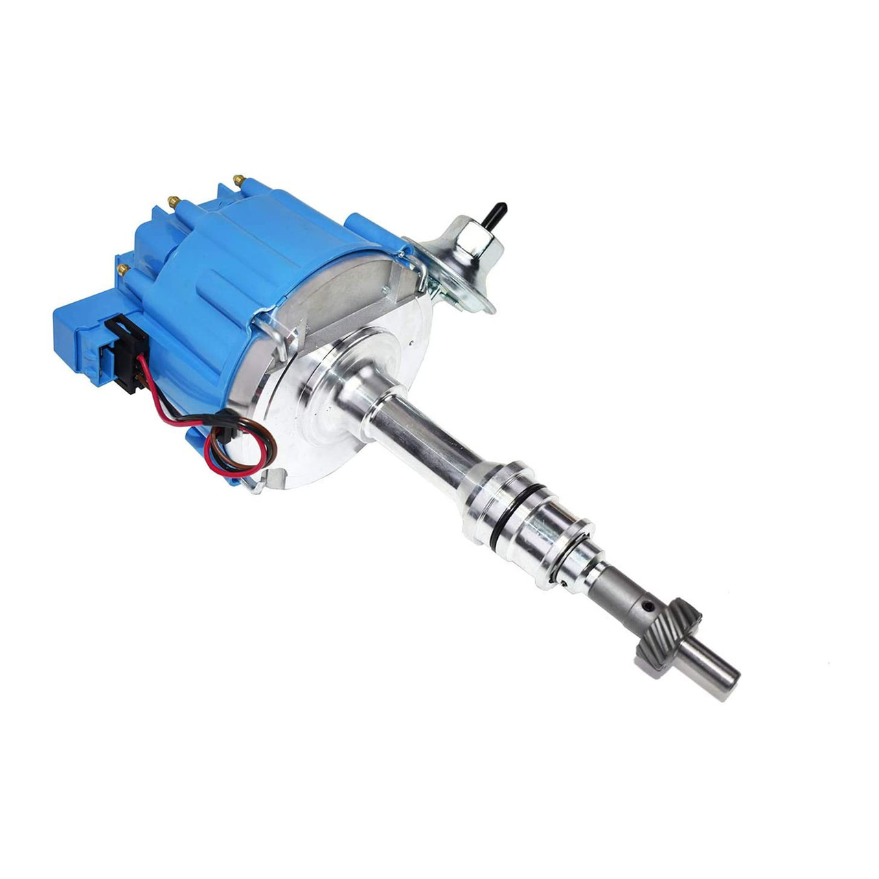A-Team Performance SBF Ford Small Block 260 289 302 HEI Ignition Blue Cap Distributor w/ 65K Coil