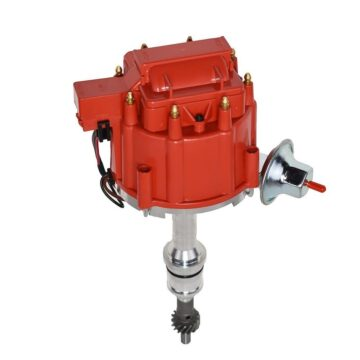 A-Team Performance SBF Ford Small Block 260 289 302 HEI Ignition Red Cap Distributor w/ 65K Coil