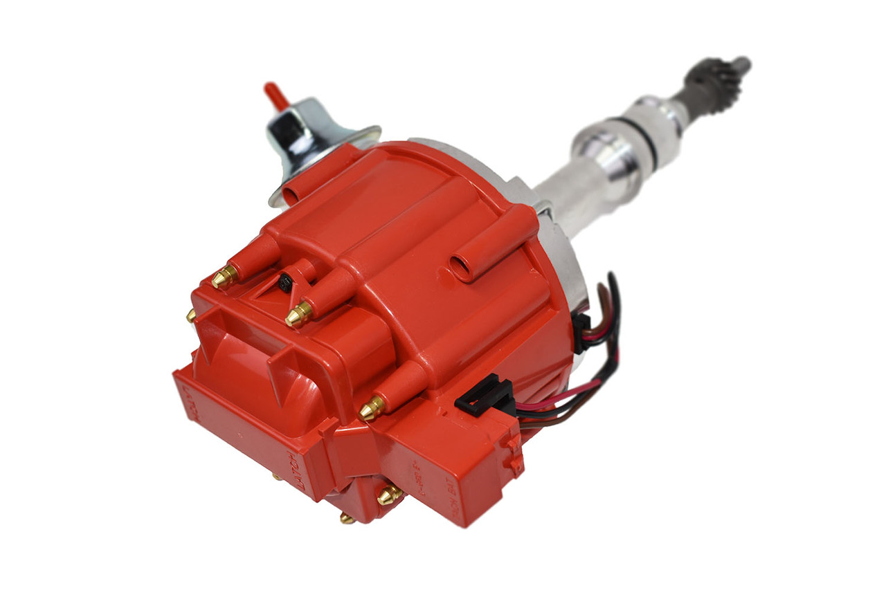 A-Team Performance Complete HEI Distributor 65,000 Coil Auto Parts Replacement for SBF Small Block Ford 260 289 302 5.0 One Wire Installation Red Cap