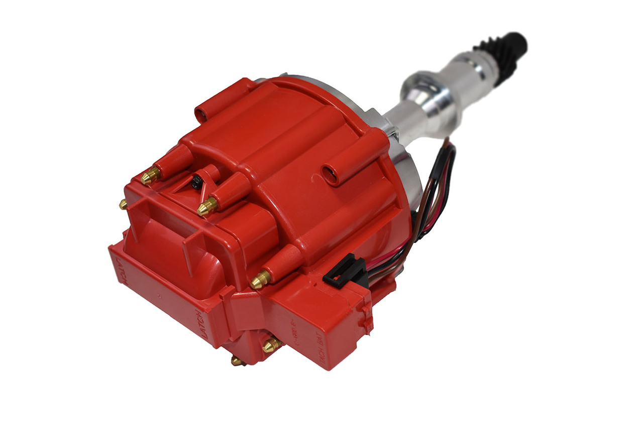 A-Team Performance JM6504R HEI Distributor with Red Cap (50K Volt Coil)