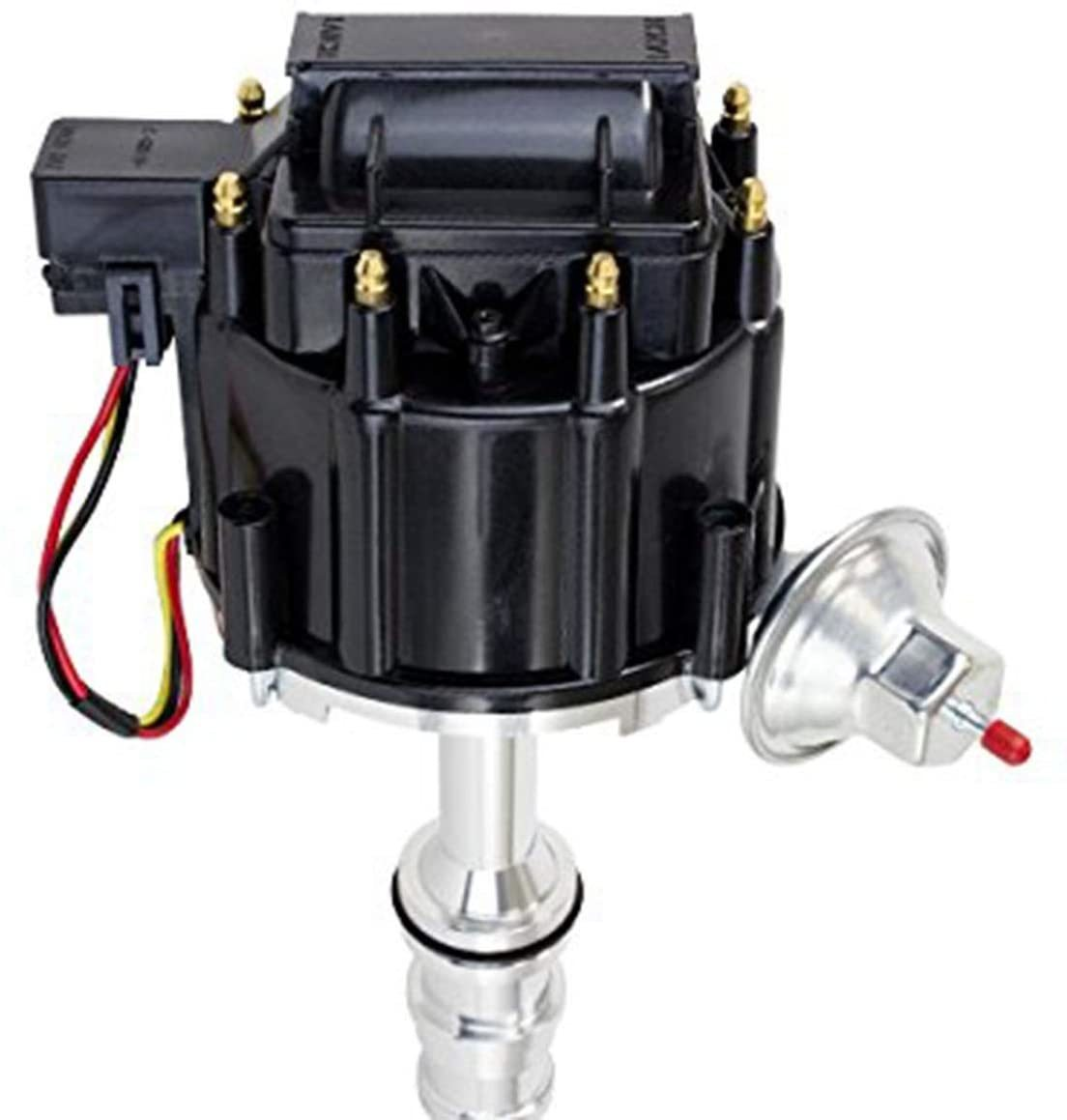 A-Team Performance Ford 330 361 391 Heavy Duty Truck HEI Distributor, Black, 1 Wire Hookup