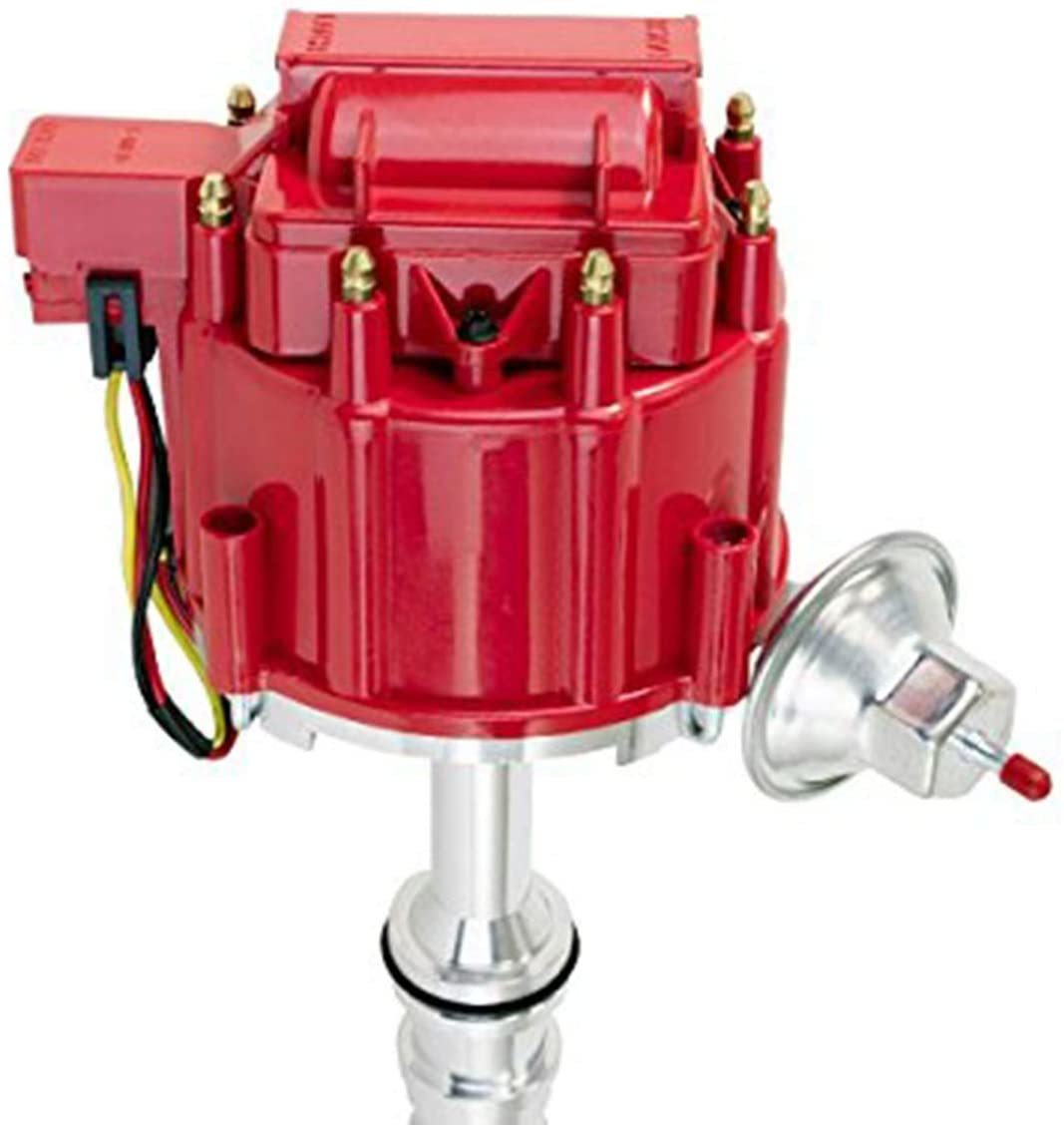 A-Team Performance Ford 330 361 391 Heavy Duty Truck HEI Distributor Red 1 Wire Hookup