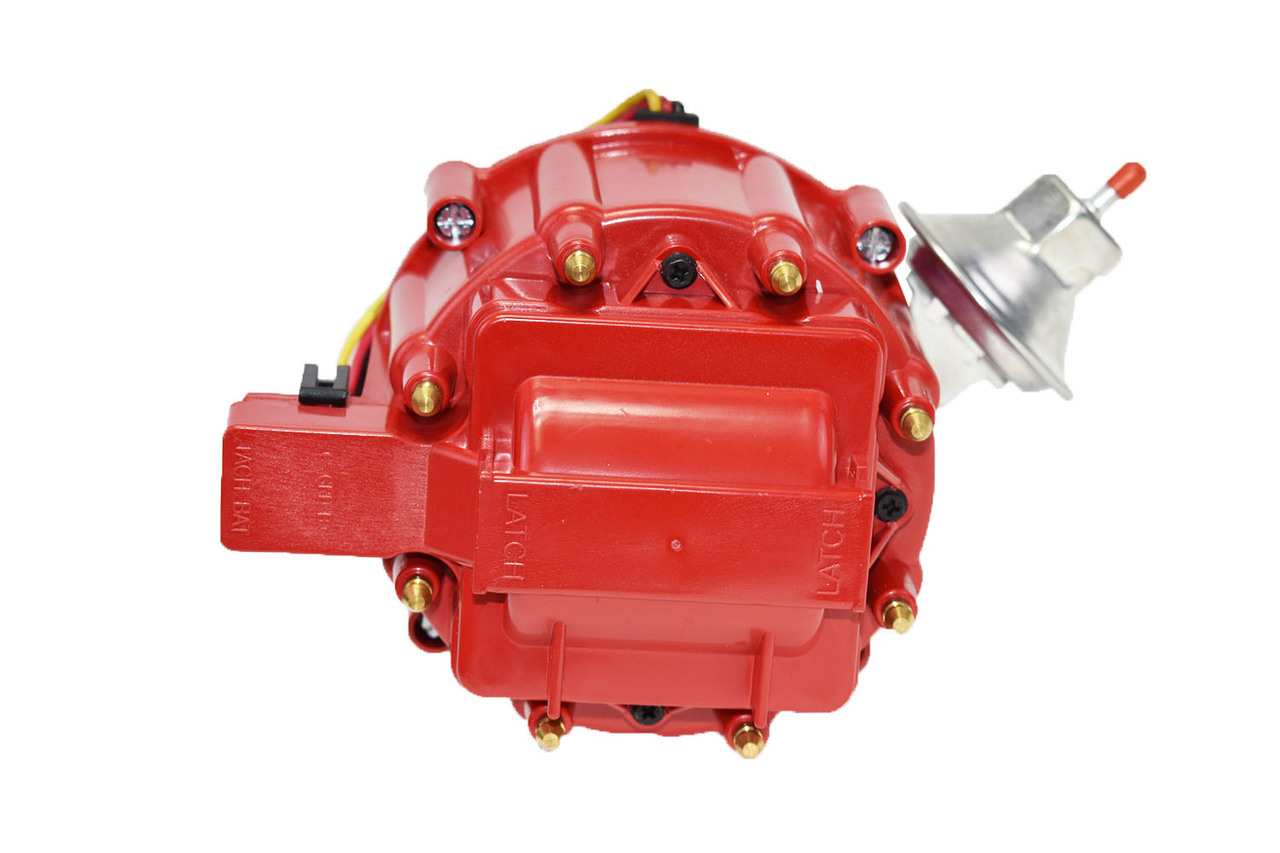 A-Team Performance HEI Distributor 65K Volt Coil Compatible With GM Chevrolet BBC Big Block Chevy 348 409 ONLY W-Series One-Wire Installation Red Cap
