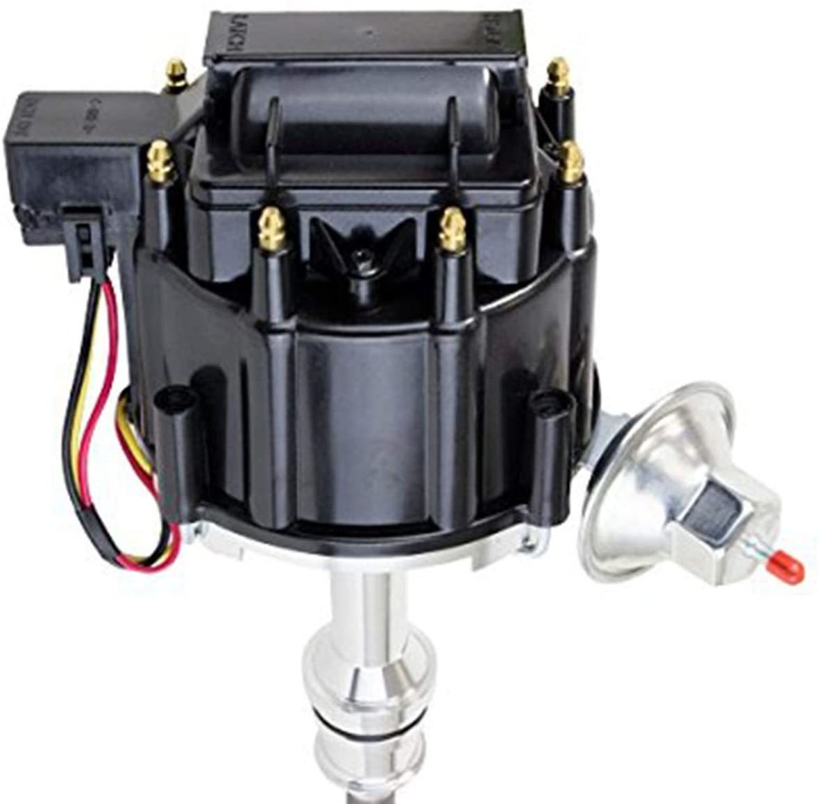 A-Team Performance SBF Ford Small Block 351W Windsor HEI Ignition Black Cap Distributor 65K Coil