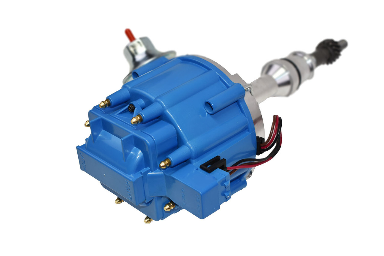 A-Team Performance SBF Ford Small Block 351W Windsor HEI Ignition Blue Cap Distributor 65K Coil
