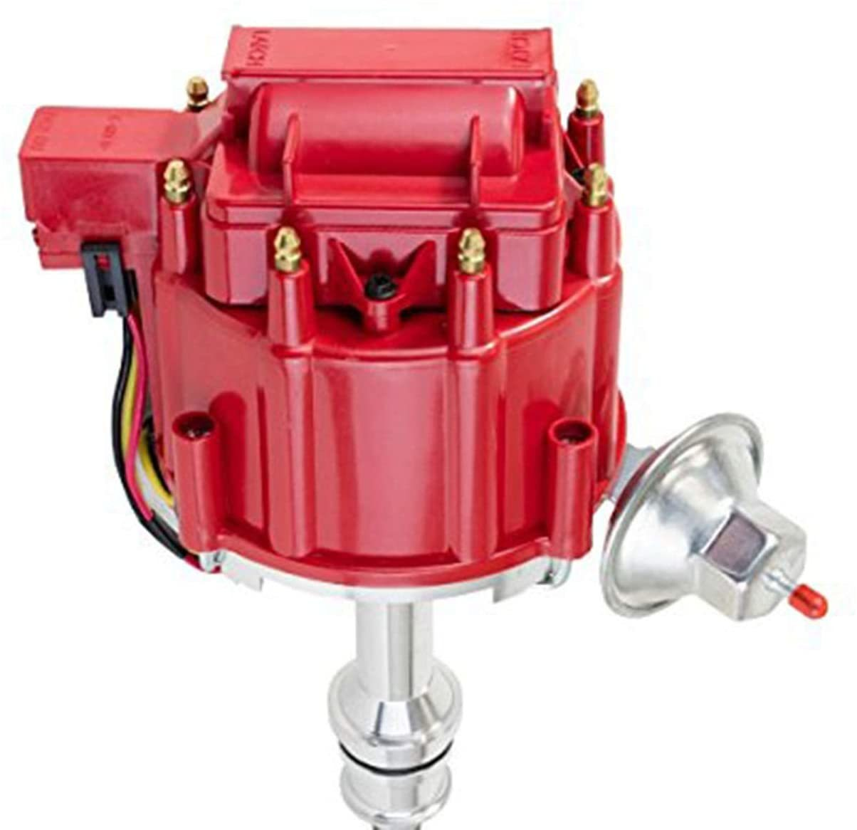 A-Team Performance SBF Ford Small Block 351W Windsor HEI Ignition Red Cap Distributor 65K Coil