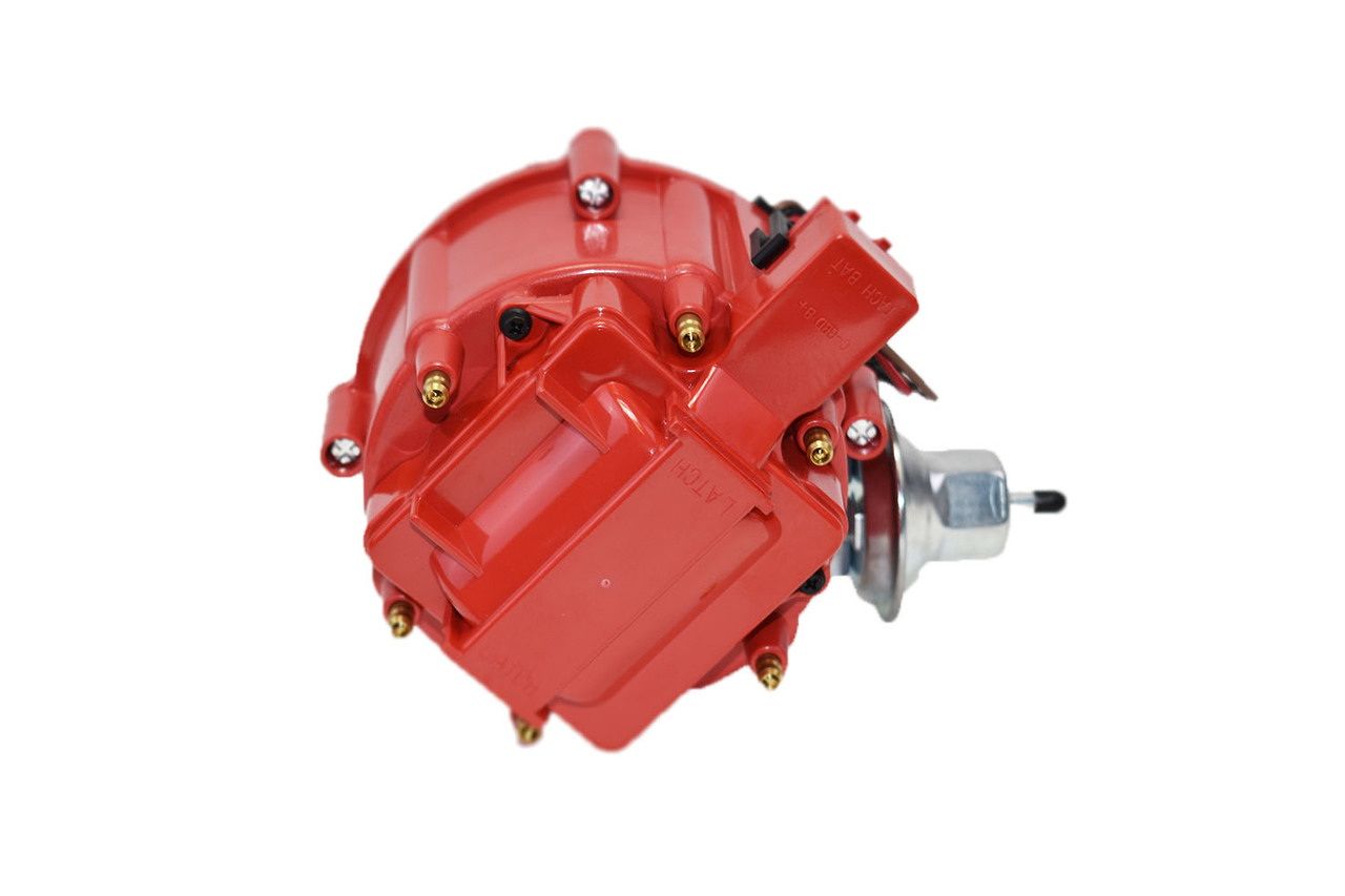 A-Team Performance JM6511R 50K Volt Coil HEI Distributor with Red Cap - SWPP