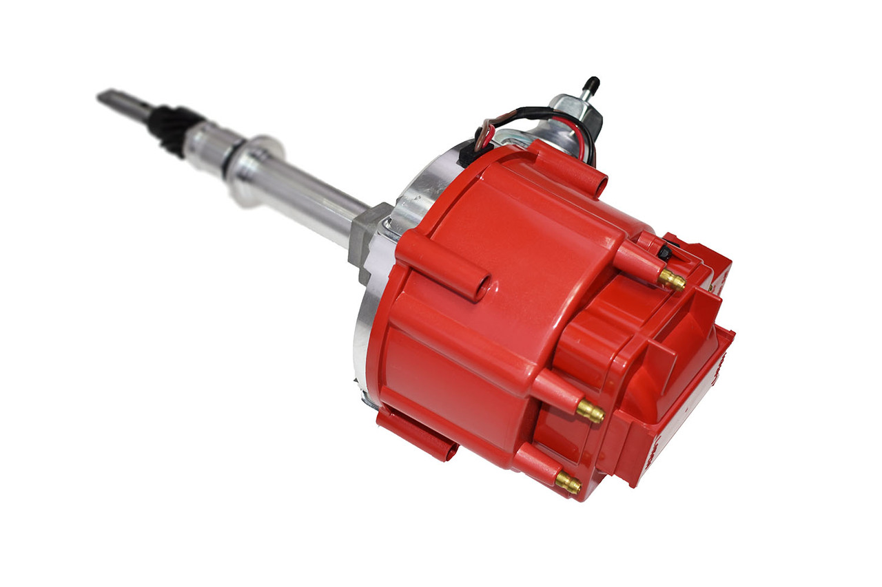 A-Team Performance Chevy Late Inline SIX 6 Cylinder HEI Distributor 230 250 292 Red 65K Coil