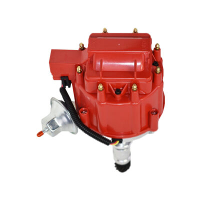 A-Team Performance HEI Distributor 65K Volt Coil Compatible with Buick Small Block SB 215 340 350 (3.5L / 215 1970-1974 Range Rover) One Wire Installation Red Cap