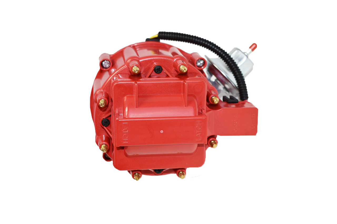 A-Team Performance HEI Distributor 65K Volt Coil Compatible With Buick Big Block BB 400 430 455 One-Wire Installation Red Cap