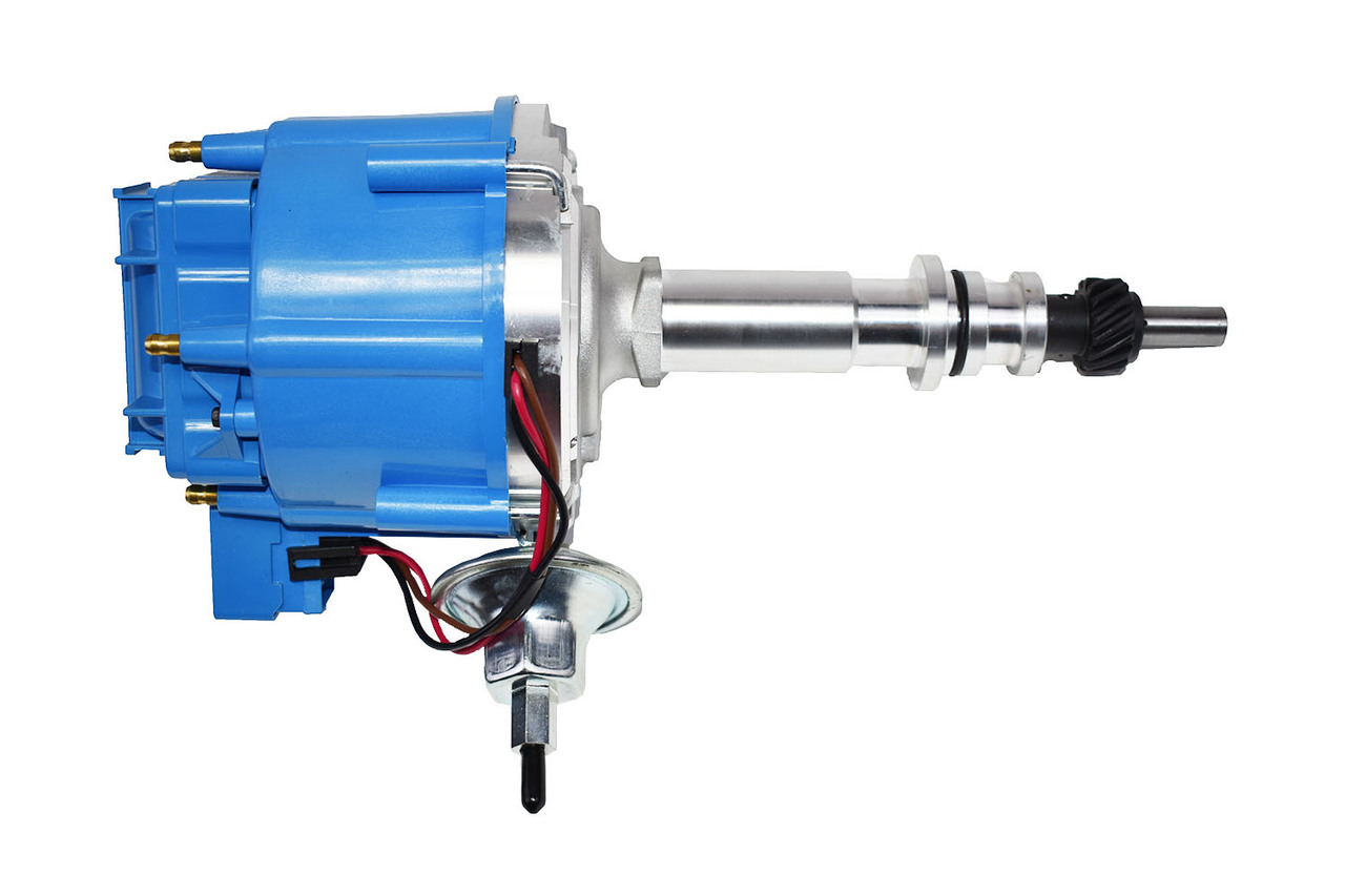 A-Team Performance FORD INLINE SIX STRAIGHT 6 CYLINDER 144 170 200 250 HEI DISTRIBUTOR 5/16 Hex Shaft BLUE Mustang