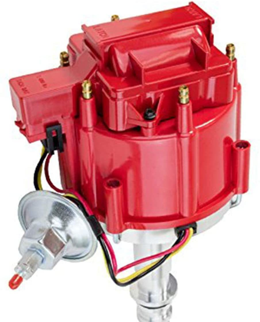 A-Team Performance 64 65 66 67 68 FORD MUSTANG STRAIGHT 6 CYL 170 200 HEI DISTRIBUTOR 5/16 Hex Shaft Red