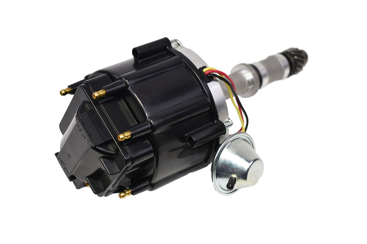 A-Team Performance HEI Distributor 65K Volt Coil Compatible with Buick Odd Fire 231 3.8L V6 225 Jeep 3.7L Dauntless One-Wire Installation Black Cap