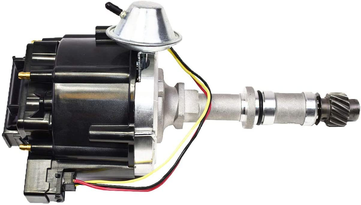 A-Team Performance HEI Distributor 65K Volt Coil Compatible with Buick Odd Fire V6 One Wire Installation Black Cap
