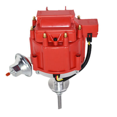 A-Team Performance HEI Distributor 65K Volt Coil Compatible with Mopar Chrysler Dodge Plymouth 331 354 Early HEMI V8 One-Wire Installation Red Cap