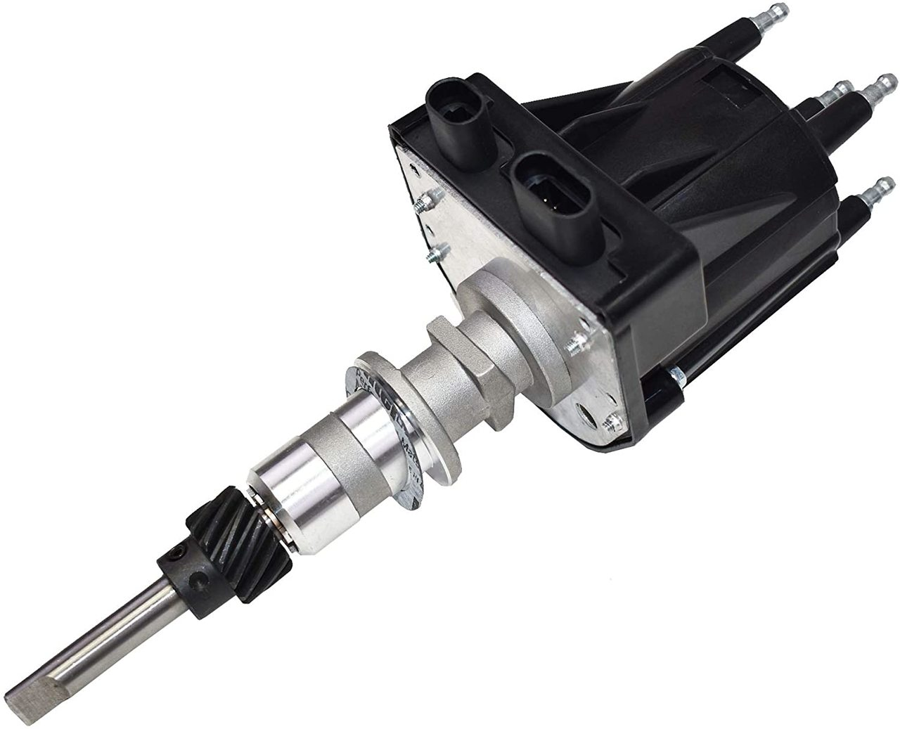 A-Team Performance EST Marine Electronic Ignition Distributor EFI Compatible with Mercruiser Chevy Volvo Penta OMC Indmar 2.5L & 3.0L Delco EST For 4 Cylinder Applications 18-5475, 817377 Black Cap